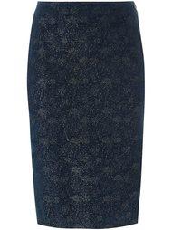 блестящая юбка-карандаш Romeo Gigli Vintage