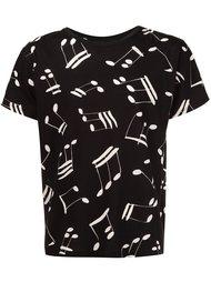 футболка с принтом нот Saint Laurent