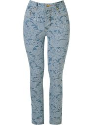 floral embroidered skinny jeans Amapô