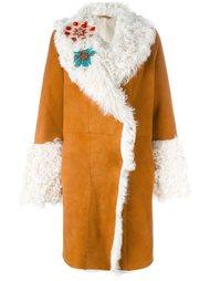 декорированное пальто с отделкой из овчины Giada Benincasa