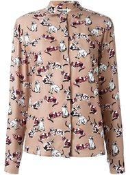 рубашка с принтом кошек MSGM