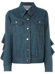 джинсовая куртка с оборками Mm6 Maison Margiela