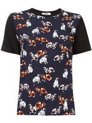 футболка с принтом кошек MSGM