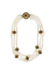 ожерелье из искусственного барочного жемчуга Chanel Vintage
