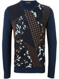 свитер в стиле пэчворк  Etro