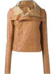 байкерская куртка с драпированным воротником Rick Owens