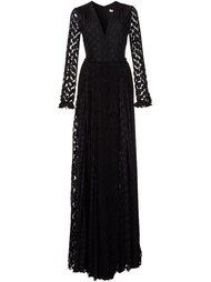 платье макси c V-образным вырезом  Maria Lucia Hohan