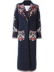 длинное пальто с цветочным принтом Giada Benincasa