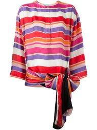 полосатая блузка с бантом на подоле Gianfranco Ferre Vintage