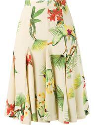 midi floral A-line skirt Isolda