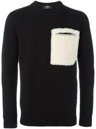 свитер с карманом  Fendi