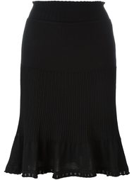 юбка с оборкой Alberta Ferretti