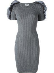 приталенное платье с аппликациями на плечах Opening Ceremony