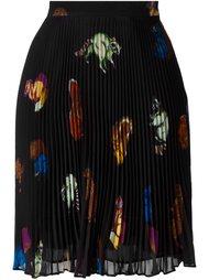 плиссированная юбка с узором Marco De Vincenzo