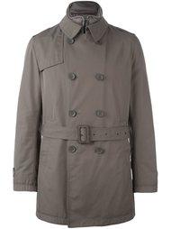 двубортное пальто с поясом Herno