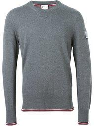 свитер с контрастной окантовкой  Moncler Gamme Bleu