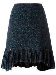 плиссированная юбка с цветочным принтом Coach
