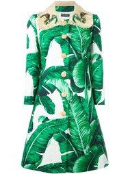 пальто с банановыми листьями Dolce & Gabbana