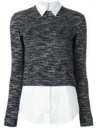 меланжевый свитер Alice+Olivia