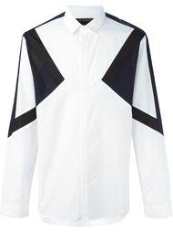 рубашка дизайна колор-блок Neil Barrett