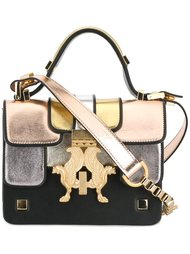 сумка на плечо с эффектом металлик Giancarlo Petriglia