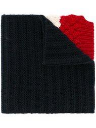 шарф с контрастными полосками Moncler