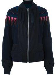 куртка-бомбер с геометрическим узором Sacai