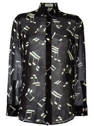 рубашка с принтом нот Saint Laurent