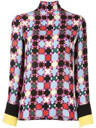 блузка с геометрическим узором Emilio Pucci