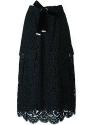 кружевная юбка миди Twin-Set