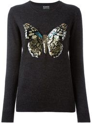 свитер с вышивкой пайетками в виде бабочки Markus Lupfer