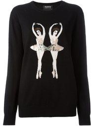 свитер с вышивкой пайетками в виде балерины Markus Lupfer