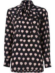 блузка с контрастным узором Lanvin