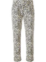 джинсы с леопардовым принтом   Stella McCartney