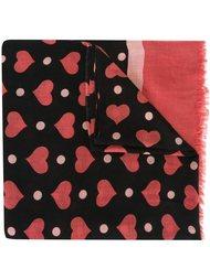 шарф с узором в виде сердец Twin-Set