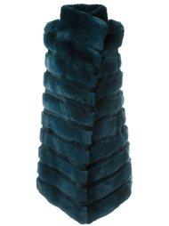 пальто без рукавов с панельным дизайном Yves Salomon