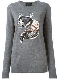 свитер с вышивкой пайетками в виде лисы Markus Lupfer