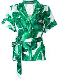 рубашка с банановыми листьями Dolce & Gabbana