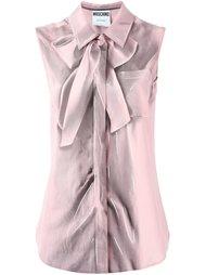 рубашка без рукавов с эффектом trompe-l'œil Moschino