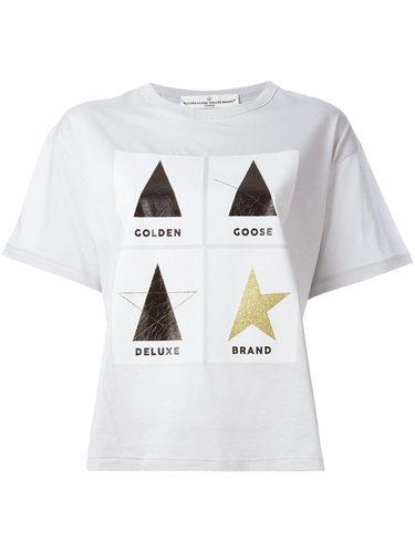 футболка с принтом-логотипом Golden Goose Deluxe Brand