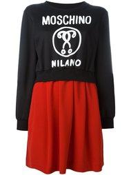 многослойная платье-толстовка  Moschino