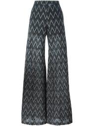 брюки с зигзагообразным узором  M Missoni