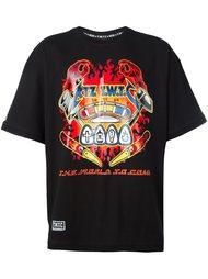футболка с принтом пламени  KTZ