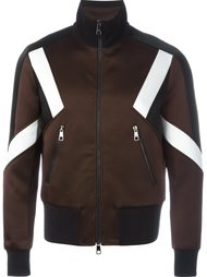 куртка-бомбер с контрастными полосками   Neil Barrett