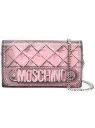 кошелек на цепочке с логотипом Moschino