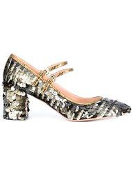 туфли с пайетками Rochas