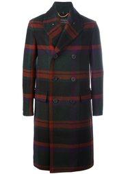 двубортное пальто в клетку Burberry