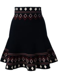 юбка А-образного силуэта с орнаментом Alexander McQueen