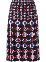 плиссированная юбка с геометрическим принтом Emilio Pucci