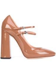туфли на массивном каблуке  Rochas